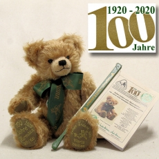 Time change – Values remain Jubilee Bear 1920 – 2020 100 year of am eventful company history 38 cm Teddy Bear by Hermann-Coburg