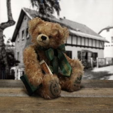 Jubilee Teddy Bear 99 years of a companys history 36 cm Teddy Bear by Hermann-Coburg