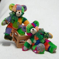 Wir sind bunt – Teddy  35 cm Teddy Bear by Hermann-Coburg