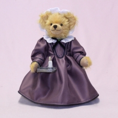 Florence Nightingale  The Lady with the Lamp 35 cm Teddy Bear by Hermann-Coburg
