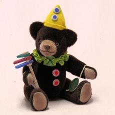 Der Clownbär – eine Reminiszenz an die 1920er Jahre 19 cm Teddy Bear by Hermann-Coburg