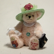 HM Queen Elizabeth II 90th Birthday Celebration Bear 35 cm Teddy Bear by Hermann-Coburg