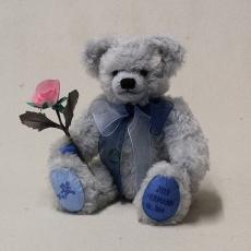 HERMANN Jahresbär 2019 – Träumerei in Blau 35 cm Teddybär von Hermann-Coburg