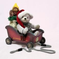 Santa Mobilw 23 cm Teddy Bear by Hermann-Coburg