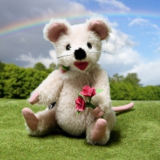 Little Springtime Mouse 19 cm Teddy Bear by Hermann-Coburg