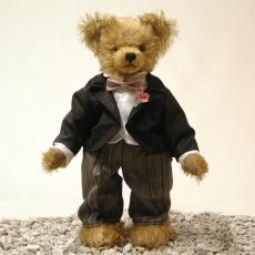 Wedding Bear BridegroomMasterpiece 37 cm Teddy Bear by Hermann-Coburg