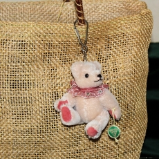 Teddy-Pendant 2019 Miniature- Mohair-Teddy Piccolo 11 cm Teddy Bear by Hermann-Coburg