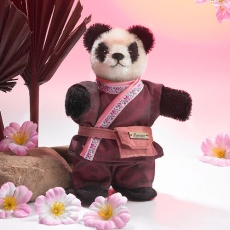 Miniatur Steh-Panda 14 cm Teddybär von Hermann-Coburg