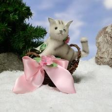 HERMANN Classsic Sweetie Cat 12 cm Teddy Bear by Hermann-Coburg