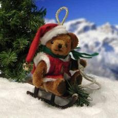 Jingle Santa 11 cm Teddybär von Hermann-Coburg