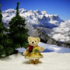Weihnachtsglöckchen 11 cm Teddybär von Hermann-Coburg