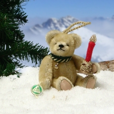 Little Christmas Light 12,5 cm Teddy Bear by Hermann-Coburg