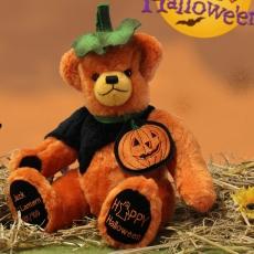 Jack OLantern Halloween Bär 2018 36 cm Teddybär von Hermann-Coburg