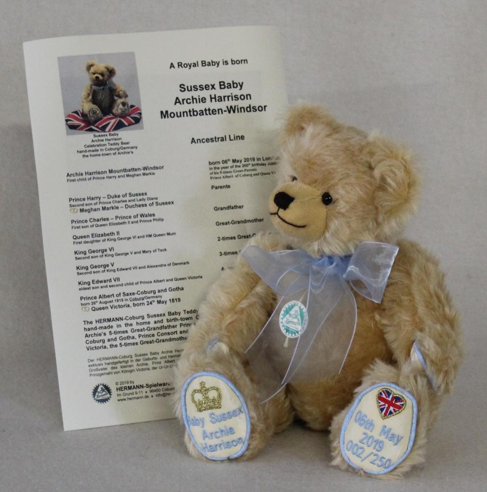 Royal Baby Sussex Teddybär Von Hermann-Coburg