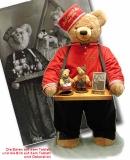 Großer Liftboy - 92 cm  92 cm Teddy Bear by Hermann-Coburg