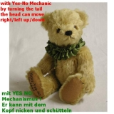 Nicky - Yes No Bär  28 cm Teddybär von Hermann-Coburg