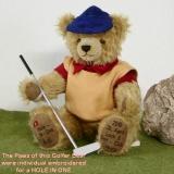Golfer Individual Bär 36 cm Teddybär von Hermann-Coburg