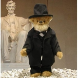 Abraham Lincoln 40 cm Teddy Bear by Hermann-Coburg