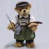 Master of Bratwurst Rosting 37 cm Teddy Bear by Hermann-Coburg