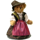 Old Bavarian Girl 37 cm Teddy Bear by Hermann-Coburg
