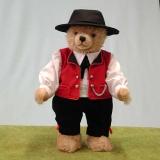Schwarzwaldjunge Black Forest Boy  38 cm Teddybär von Hermann-Coburg