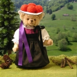 Schwarzwaldmädel Black Forest Girl 38 cm Teddybär von Hermann-Coburg