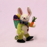 Standing miniature Easter Bunny Gustav 16 cm Teddy Bear by Hermann-Coburg