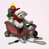 Santa Mobilw 23 cm Teddy Bear by Hermann-Coburg