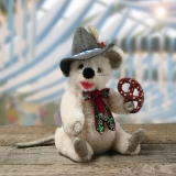 Little Oktoberfest Mouse 19 cm Teddy Bear by Hermann-Coburg