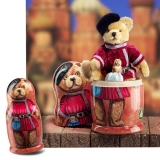 HERMANN Matryoshka Bear 27 cm Teddy Bear by Hermann-Coburg