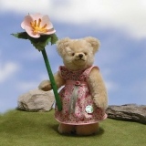 Little Flower Girl with little Wild-Rose 23 cm Teddy Bear by Hermann-Coburg