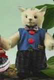 Miniatur Steh-Katze Junge 14 cm Teddybär von Hermann-Coburg