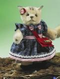 Miniatur Steh-Katze Mädchen 14 cm Teddybär von Hermann-Coburg
