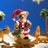 Miniatur Steh-Bär Santa 14 cm Teddy Bear by Hermann-Coburg