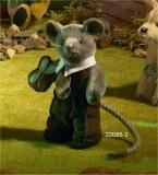 Miniatur Steh-Maus, Knuspermäuschen 14 cm Teddy Bear by Hermann-Coburg