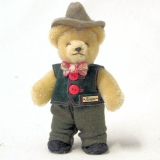 Miniatur Steh-Bär Bavarian Boy 14 cm Teddy Bear by Hermann-Coburg
