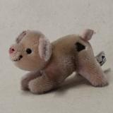 "Mohair Miniatur Glücksschwein ""Piggi"" 12 cm Teddy Bear by Hermann-Coburg"
