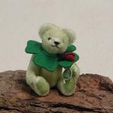 Glücksbringer Glücksklee 14 cm Teddybär von Hermann-Coburg