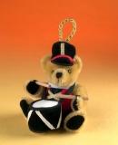 Kleiner Mini-Trommler 11 cm Teddybär von Hermann-Coburg