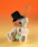 Schneemann 11 cm Teddybär von Hermann-Coburg