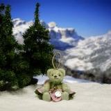 Kleine Christrose 11 cm Teddybär von Hermann-Coburg