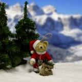 Classic Santa 11 cm Teddybär von Hermann-Coburg
