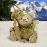 White Christmas 11 cm Teddy Bear by Hermann-Coburg