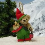 Christmas Dwarf 11 cm Teddy Bear by Hermann-Coburg