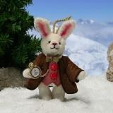 White Rabbit 11 cm Teddy Bear by Hermann-Coburg