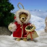 Santas Joy 11 cm Teddy Bear by Hermann-Coburg