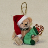 Santa Claus and the Gingerbread 13 cm Teddy Bear by Hermann-Coburg