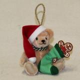 Santa Claus und das Lebkuchenmännchen 13 cm Teddybär von Hermann-Coburg