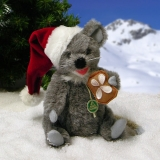 Little Christmas Mouse 19 cm Teddy Bear by Hermann-Coburg