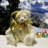 White Christmas 37 cm Teddy Bear by Hermann-Coburg